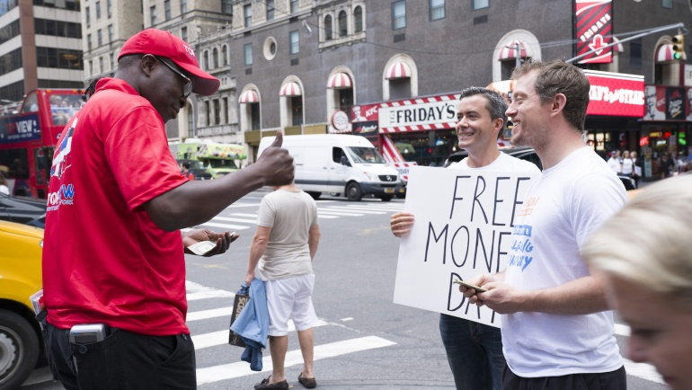 What happens when you give free money to strangers?