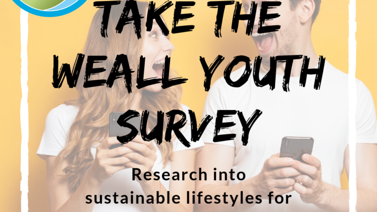 WEAll Youth research into sustainable lifestyles for Under-30s