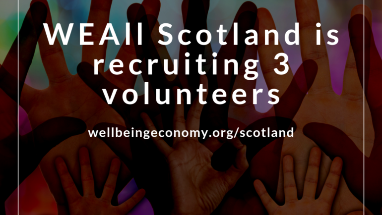 WEAll Scotland is looking for three new volunteers